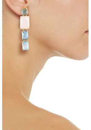 Ippolita Woman 18-karat Gold Stone Earrings Sky Blue Size -