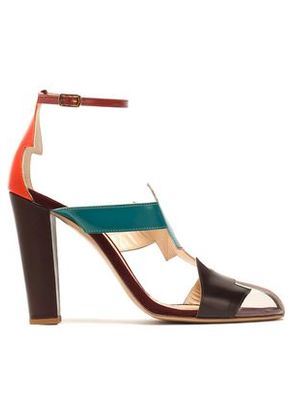 Camilla Elphick Woman Pcv-paneled Color-block Leather Sandals Multicolor Size 40 Camilla Elphick dR54hc
