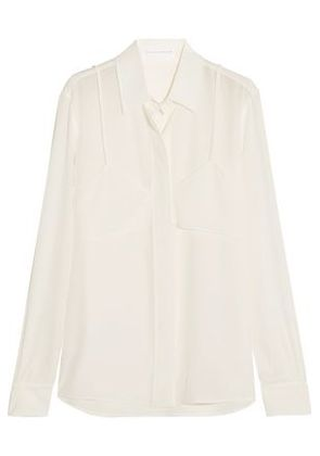 Victoria Beckham Woman Layered Silk Crepe De Chine Shirt Ivory Size 12 Victoria Beckham Clearance Collections VbP4mXCN3T