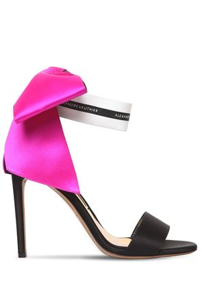 100MM SATIN SANDALS W/ BOW
