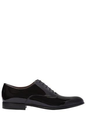 PATENT LEATHER OXFORD LACE-UP SHOES