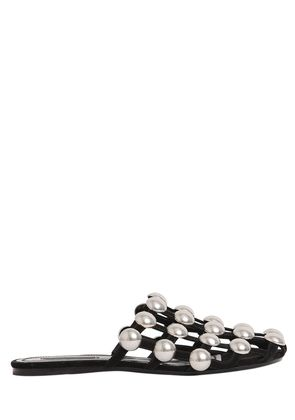 10MM AMELIA STUDDED SUEDE MULES