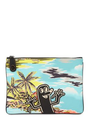 KEITH HARING PRINTED NYLON POUCH