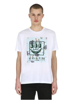 KEITH HARING LOGO COTTON JERSEY T-SHIRT