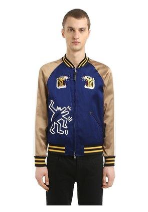 KEITH HARING SATIN SOUVENIR JACKET