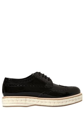 40MM KEELY 2 PATENT LEATHER BROGUE SHOES