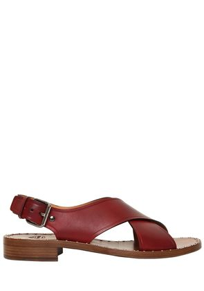 20MM CROSS OVER LEATHER SANDALS