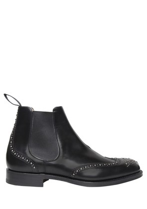 STUDDED BRUSHED LEATHER CHELSEA BOOTS