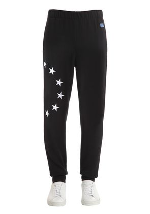 EUROPA EMBROIDERED COTTON SWEATPANTS
