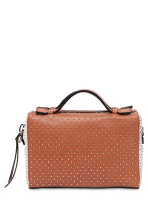 MINI DON BAULET STUDDED LEATHER BAG