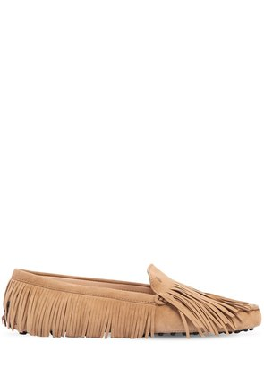 GOMMINO FRINGED SUEDE LOAFERS