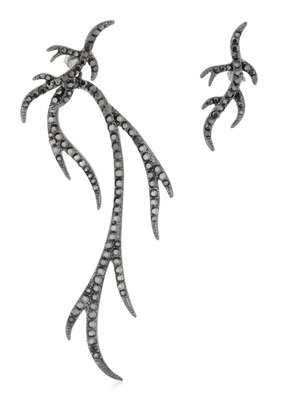 TWIG ASYMMETRICAL EARRINGS
