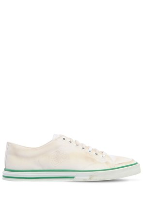 MATCH COTTON CANVAS SNEAKERS