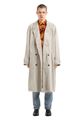 OVERSIZED COTTON TWILL TRENCH COAT