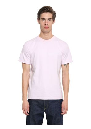 EMBROIDERED HEAVY COTTON JERSEY T-SHIRT