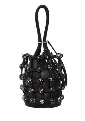 MINI ROXY DENIM CAGE BUCKET BAG
