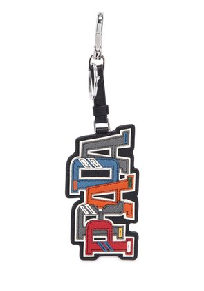 CHARACTER SAFFIANO LEATHER KEY CHAIN