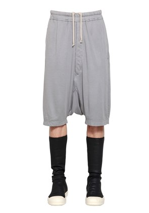 DRKSHDW LIGHT COTTON JERSEY SHORTS
