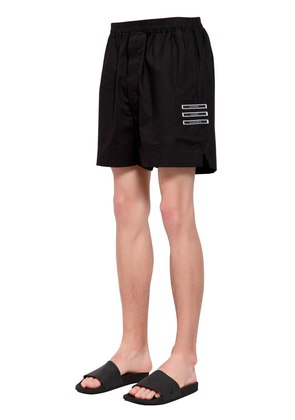 DRKSHDW PATCHES COTTON JERSEY SHORTS