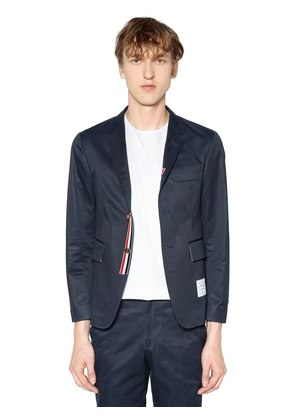 UNCONSTRUCTED COTTON TWILL JACKET