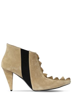 90MM ZIGZAG SUEDE ANKLE BOOTS