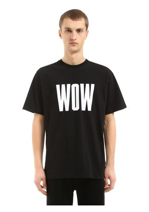 WOW PRINTED COTTON JERSEY T-SHIRT