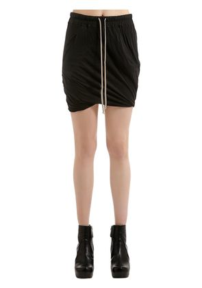 DRKSHDW DRAWSTRING COTTON JERSEY SHORTS