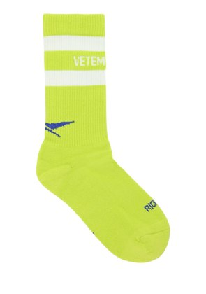 METAL LOGO COTTON BLEND SOCKS