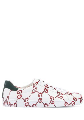 NEW ACE GG PRINTED LEATHER SNEAKERS
