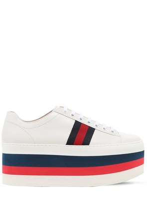 55MM PEGGY LEATHER PLATFORM SNEAKERS