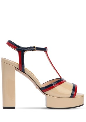 130MM MILLIE PATENT LEATHER SANDALS