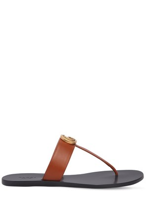 10MM MARMONT THONG LEATHER FLATS