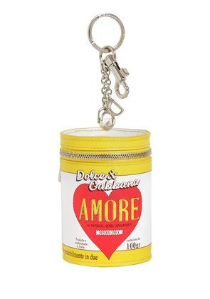 AMORE CAN LEATHER KEYCHAIN