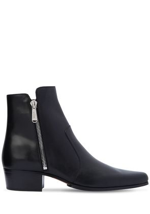 35MM ANTHOS ZIP LEATHER ANKLE BOOTS
