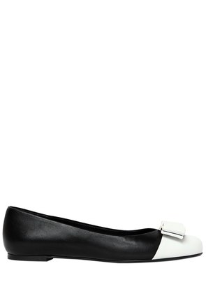 20MM VARINA CT TWO TONE LEATHER FLATS