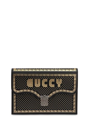 GUCCY BOOK LEATHER CLUTCH