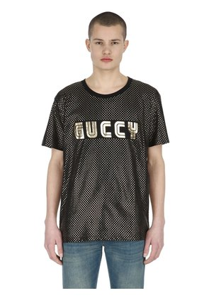GUCCY & STARS COTTON JERSEY T-SHIRT