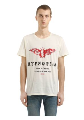 GUCCIFY BAT PRINT COTTON JERSEY T-SHIRT