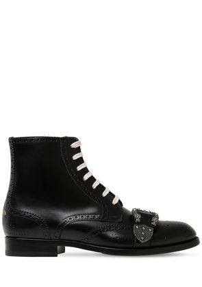 QUEERCORE LACE-UP LEATHER BOOTS