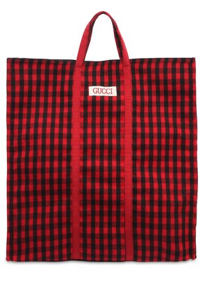 FLORENTIA CHECKED WOOL TOTE BAG