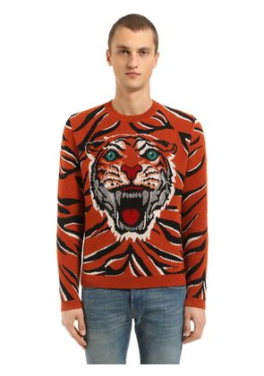 TIGER WOOL JACQUARD SWEATER