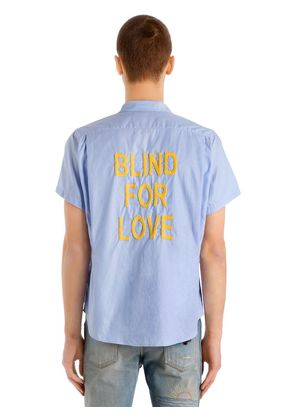 BLIND FOR LOVE PINPOINT BOWLING SHIRT