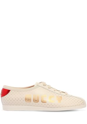 FALACER GUCCY STARS LEATHER SNEAKERS