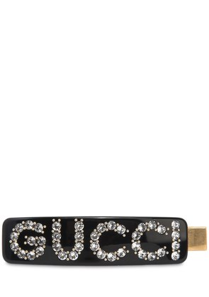 GUCCI HAIR BARRETTE W/ CRYSTALS
