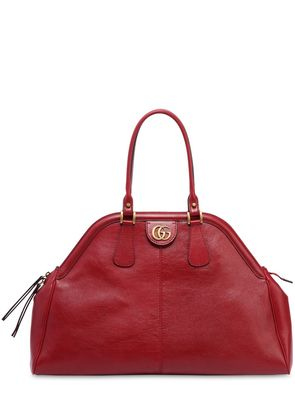 MAXI DOME LEATHER TOP HANDLE BAG
