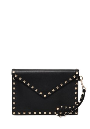SMALL ROCKSTUD LEATHER POUCH