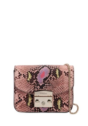 MINI METROPOLIS SNAKE PRINT LEATHER BAG