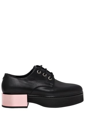 40MM MIRROR HEEL LEATHER LACE-UP SHOES