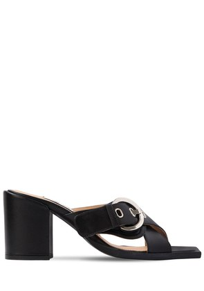 80MM CHUNKY LEATHER SANDALS
