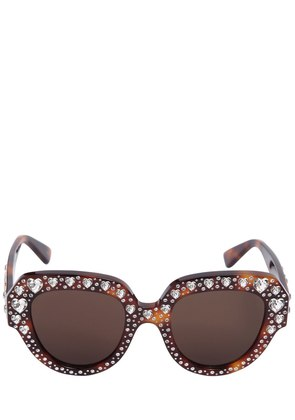 SQUARE SUNGLASSES W/ HEART CRYSTALS